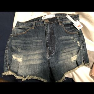 RSQ (Tillys) high waisted Jean shorts